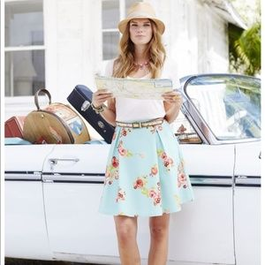 Matilda Jane Natural Beauty A-Line Floral Skirt